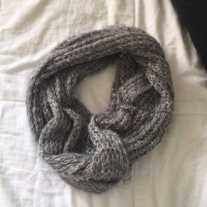 Grey/silver infinity scarf